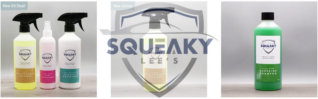 Squeaky Lees Detailing Products