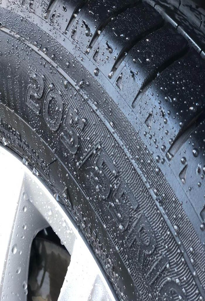 Apply it to tyres after every wash, and trim every other wash